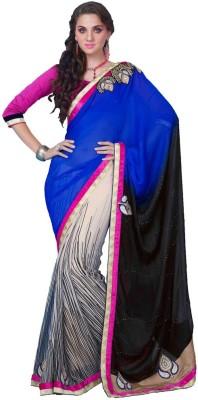 Desi Look Embriodered Bollywood Chiffon Sari
