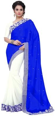 B W Embriodered Bollywood Satin, Georgette Sari
