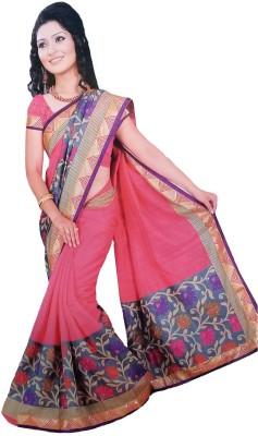 Suvida Embellished, Printed Bollywood Cotton, Silk Sari