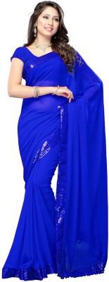 RadadiyaTRD Plain Fashion Georgette Sari