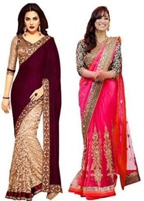 Subhash Sarees Embriodered Daily Wear Georgette Sari