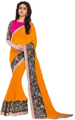 Blitz N Glitz Self Design Fashion Georgette Sari