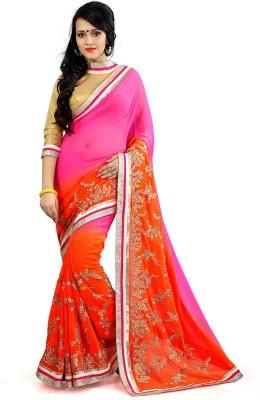 Abhinal Fashion Embriodered Fashion Chiffon Sari