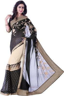 Palav Creation Self Design Fashion Georgette, Net Sari