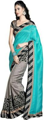 Jignesh Mangukiya Printed Bhagalpuri Silk Cotton Blend Sari
