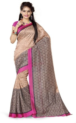 Adah Fashions Printed Daily Wear Art Silk Sari
