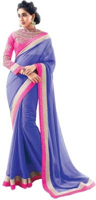 Kia Fashions Solid Bollywood Handloom Georgette Sari