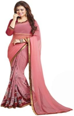 MahekImpex Floral Print Fashion Georgette Sari