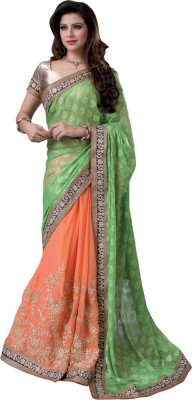shart Embriodered Assam Silk Chiffon Sari