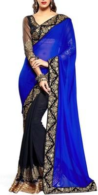 Morpankh Enterprise Embriodered Bollywood Georgette Sari