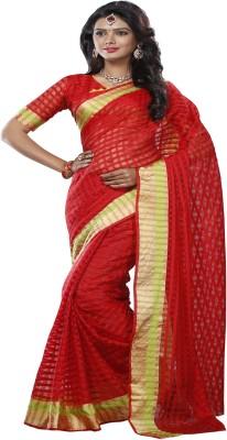 ambey shree trendz Applique Phulia Synthetic Sari