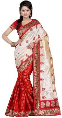 K3 Self Design Chanderi Silk Sari