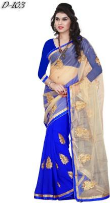 Maxusfashion Embriodered Fashion Net Sari