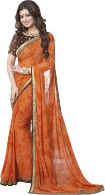 Googlee Floral Print Bollywood Georgette Sari
