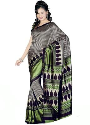 Swaranjali Chevron, Graphic Print, Printed Fashion Art Silk Sari