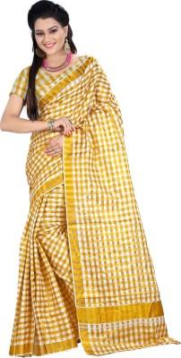 Vastrakala Checkered Fashion Cotton Sari