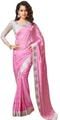 Riwaz Collection Self Design Bollywood Art Silk Sari