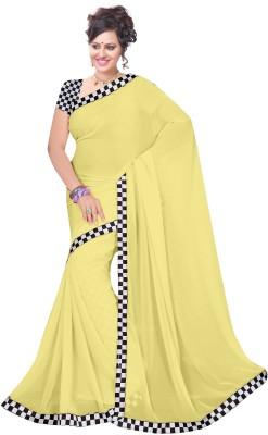 Ruchifashion Solid Bollywood Georgette Sari