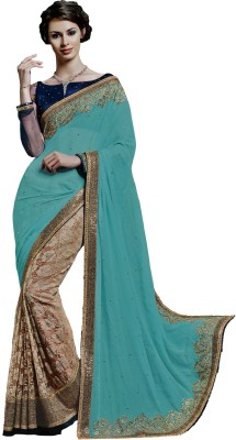 Ewows Embriodered, Embellished Fashion Georgette Sari