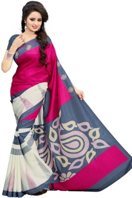 Mac Enterprise Printed Bhagalpuri Art Silk Sari