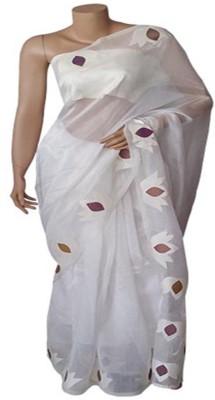 BEAUVILLE VAIIBAVAM Applique Tangail Pure Silk Sari
