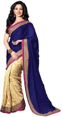 JK Fabrics Printed Bollywood Silk Sari