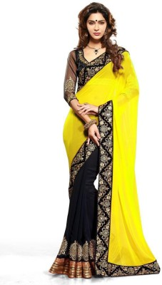 Stylezone Embriodered Bollywood Chiffon Sari