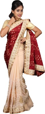 vinaa sarees Embriodered Fashion Crepe Sari