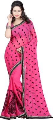 Fashiondeal Self Design Fashion Chiffon Sari