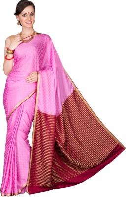 Shristi Self Design Fashion Handloom Crepe Sari