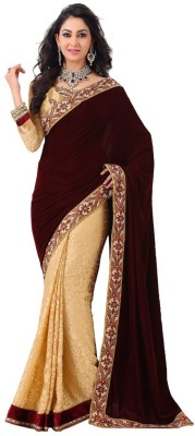EthnicPark Self Design Fashion Georgette Sari