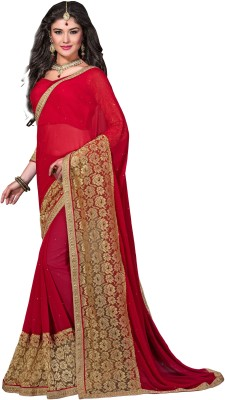 Aarnas Fashion Embriodered Fashion Pure Chiffon Sari