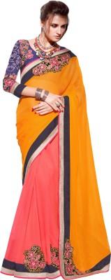 Dilwaa Self Design, Embriodered, Embellished Fashion Georgette Sari