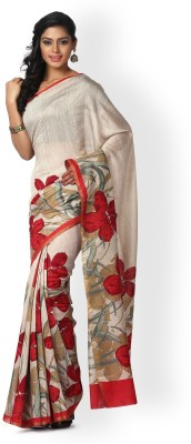 Kasturi-B Swadeshi Karigari Printed Bollywood Handloom Pure Silk Sari