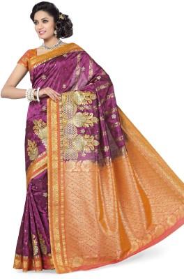 Arjuns Solid, Embellished Dharmavaram Art Silk Sari