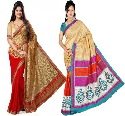 Indian E Fashion Embriodered, Plain Chanderi Brasso, Cotton Sari