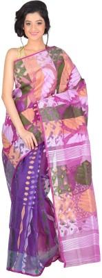 RLBFashion Dhakai Self Design Jamdani Handloom Cotton Sari