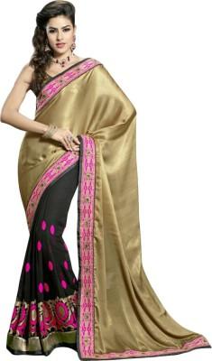 Snreks Collection Embriodered Fashion Satin, Cotton Sari