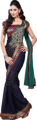 Namo Fashion Embriodered Fashion Georgette Sari