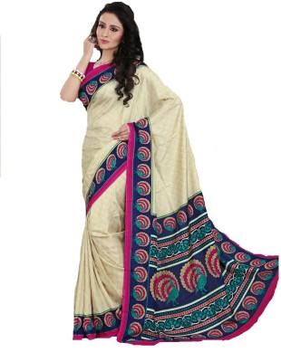 AJS Paisley, Printed Fashion Art Silk Sari