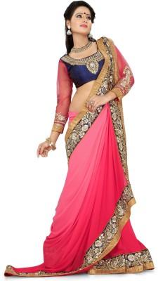 Eagle Fashion Embriodered Rajshahi Handloom Georgette Sari