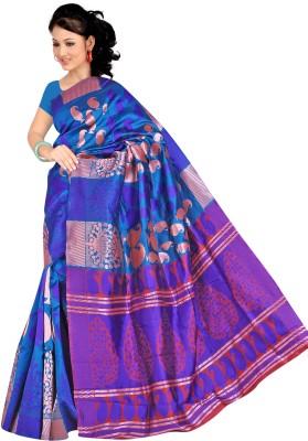Pure Silk Geometric Print Banarasi Banarasi Silk Sari