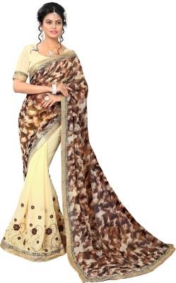 The Fashion World Embriodered Bhagalpuri Georgette Sari