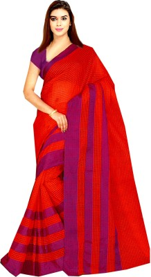 Tyra Sarees Checkered Banarasi Handloom Net Sari