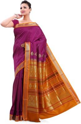 Sagar Exports Self Design Bomkai Poly Silk Sari