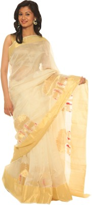 Indo Mood Woven Chanderi Cotton, Silk Sari