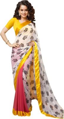 RA Graphic Print Bollywood Georgette Sari
