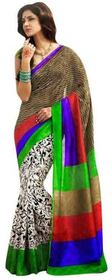 Textilebaba Printed Fashion Silk Sari