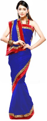 Vishal99 Self Design Fashion Chiffon Sari