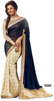 Sarees House Self Design, Embriodered Bollywood Chiffon, Jacquard Sari